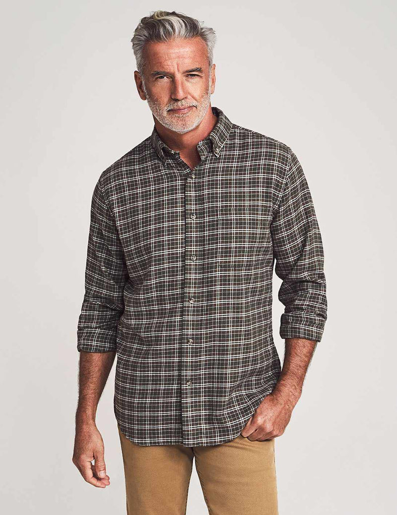 Brushed Everyday Button-Down Shirt - Berkshire Check