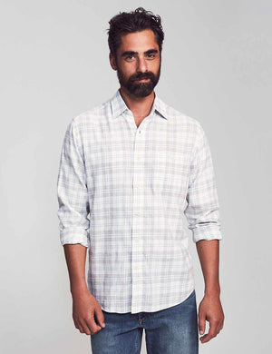 Cloud Cotton Everyday Shirt - Grey Cream Plaid