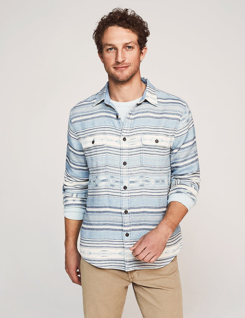 Canyon Overshirt - Indigo Woods Stripe