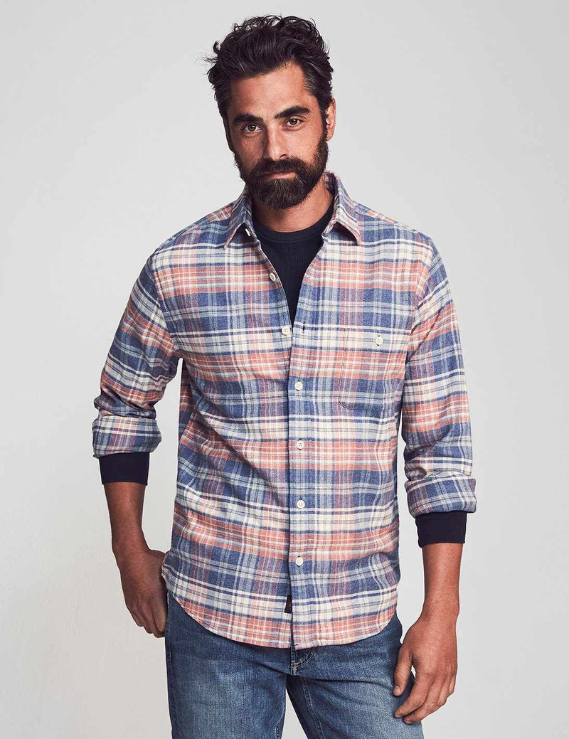 Stretch Seaview Flannel - Autumn Plaid