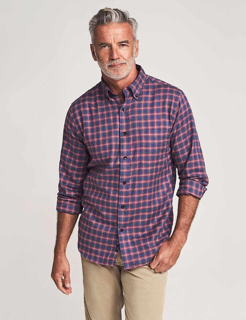 Everyday Button-Down Shirt - Festive Check