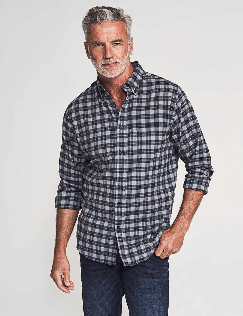 Everyday Button-Down Shirt - Grey Charcoal Gingham