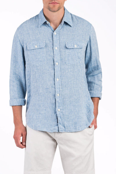 Linen Charleston Shirt - Blue