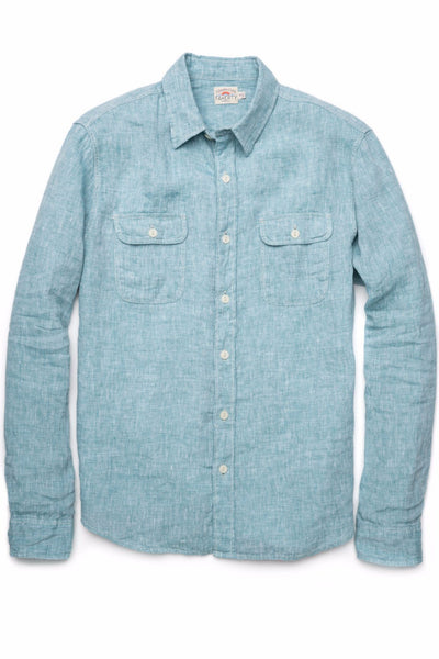 Linen Charleston Shirt - Green