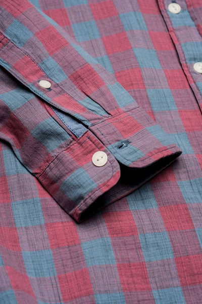 Seaview Shirt - Red/Blue