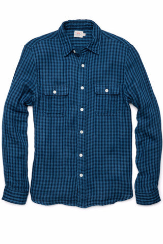 Belmar Workshirt - Deep Indigo Check