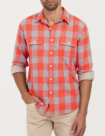 Belmar Shirt - Heathered Red Buffalo Check