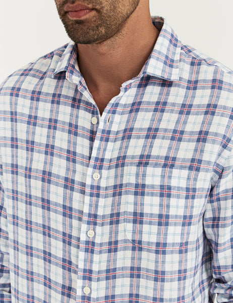 Linen Laguna Shirt - Summer House Plaid