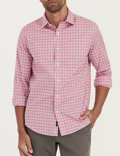Ventura Shirt - Red & Navy Check