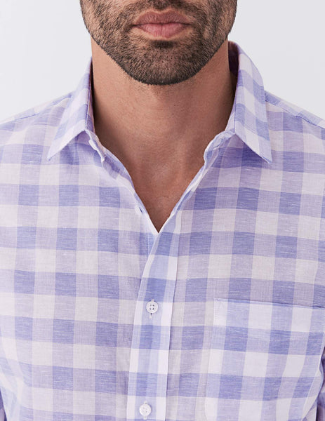 Summer Blend Ventura Shirt - White Lavender Buffalo