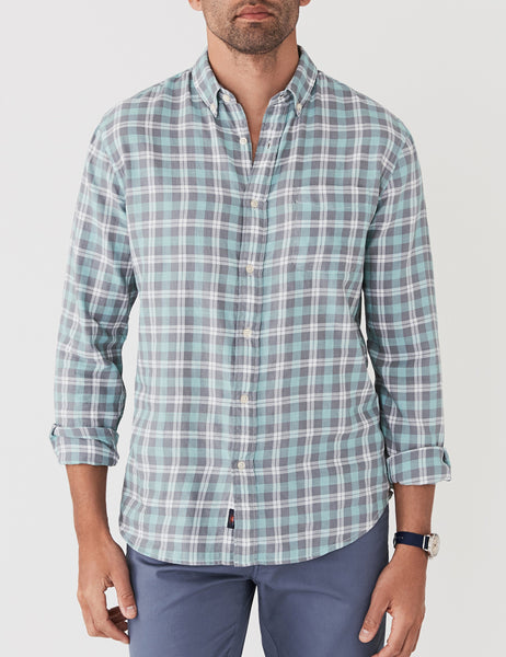 Ventura Shirt - Green Grey Cream