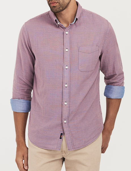 Doublecloth Ventura Shirt - Rose Gingham