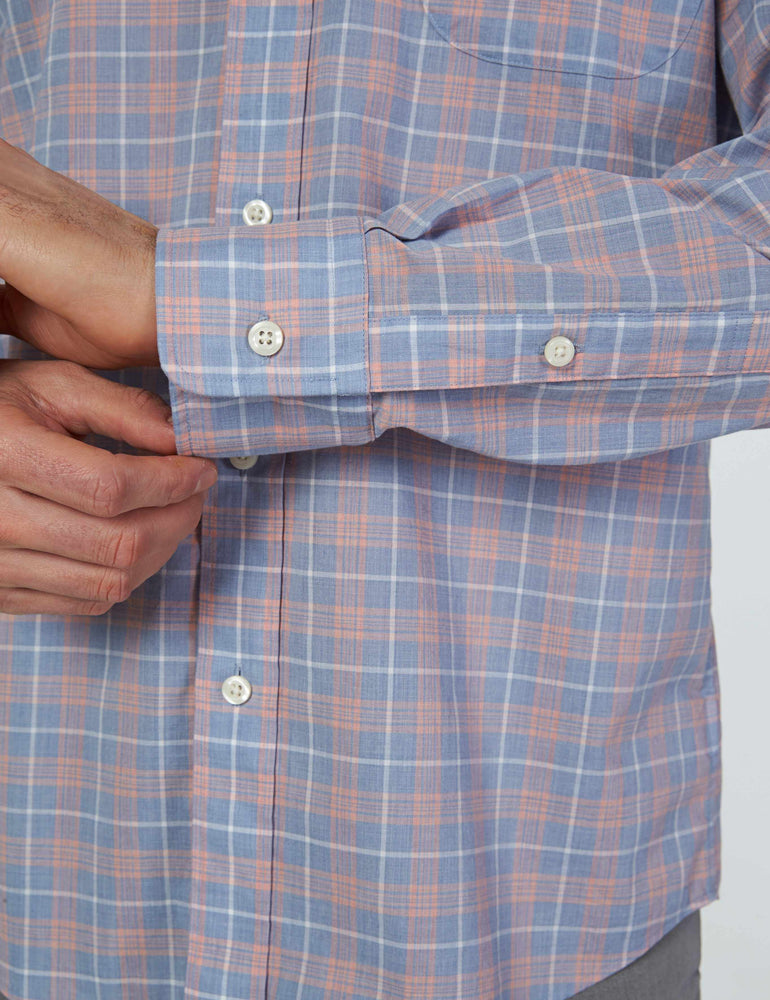 398a62f87a6 Everyday Button-Down Shirt - Dusty Coral Plaid – Faherty Brand