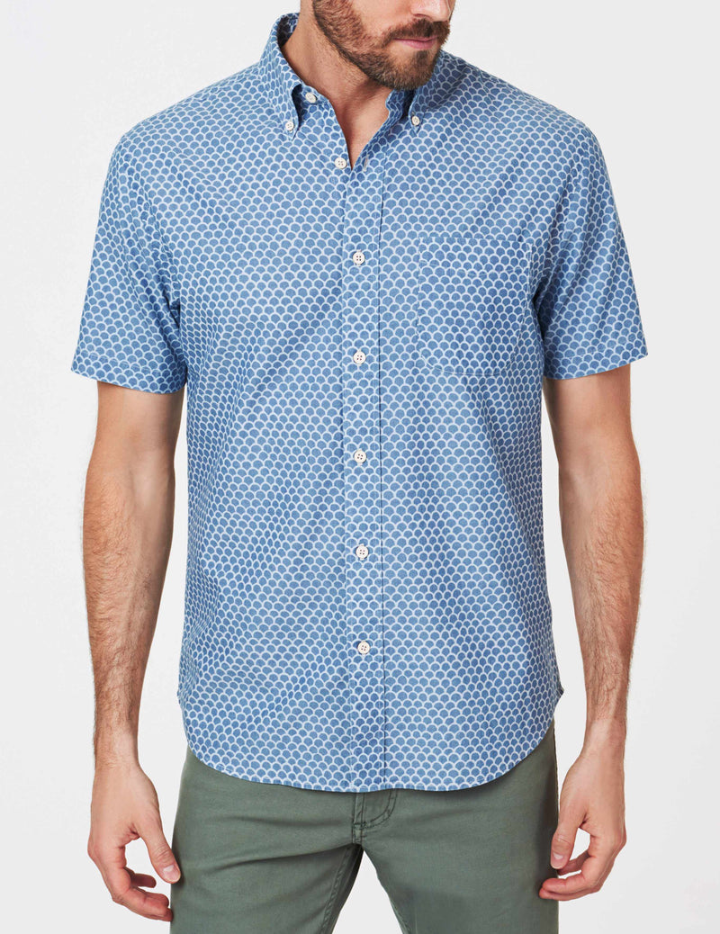 Short-Sleeve Everyday Button-Down Shirt - Fishscale Redux
