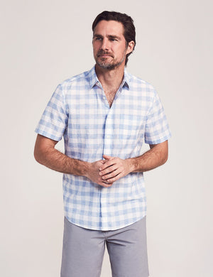 Short-Sleeve Cloud Blend Shirt - Blue Riptide