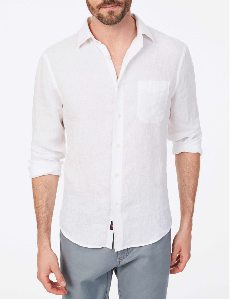 Washed Linen Shirt - Bengal White