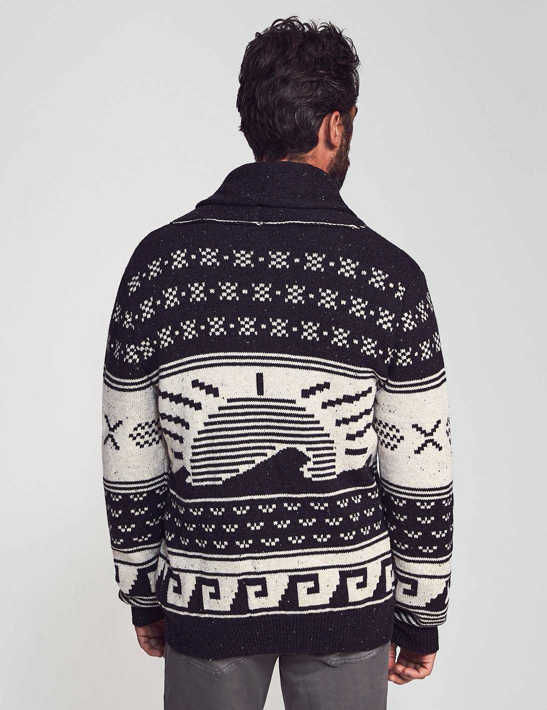 Totem Cardigan - Black/Natural