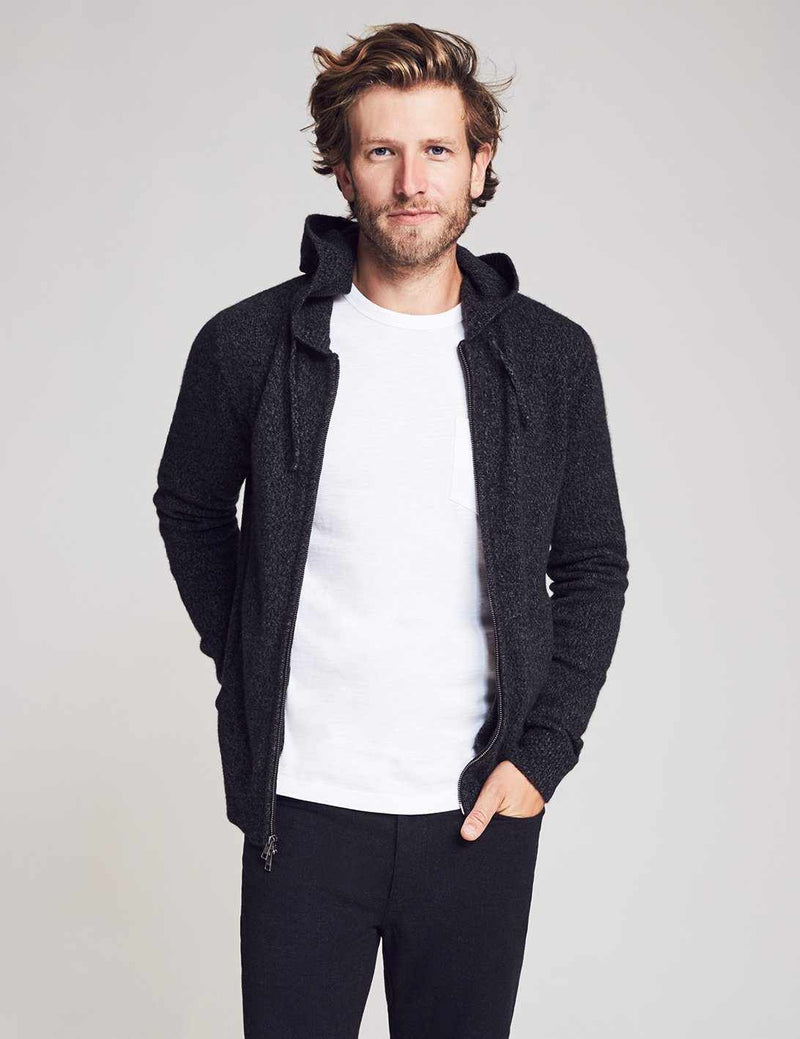 Reserve Cashmere Hoodie - Charcoal Marl