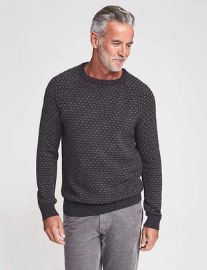 Gloucester Sweater - Charcoal Birdseye