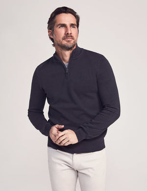 Montego Quarter Zip - Washed Black