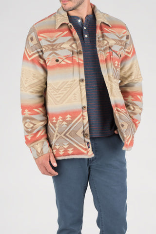 Aztec Jacket - Red Khaki