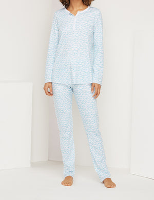 Roller Rabbit x Faherty Women's PJ Set - Wave Print