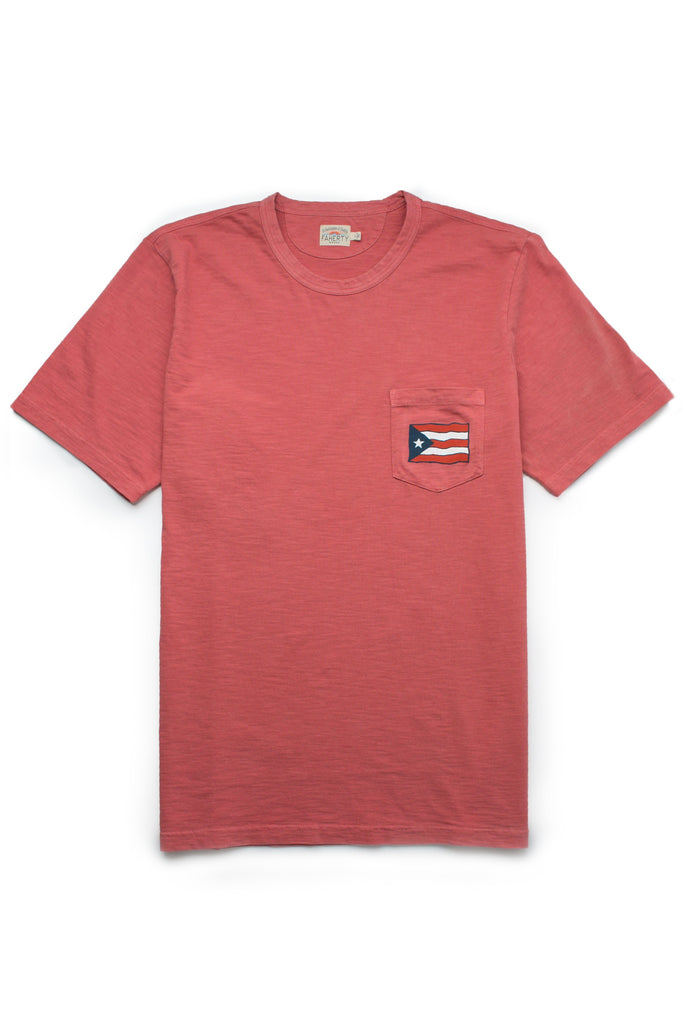 Men's Puerto Rico Pocket Tee - Faded Red