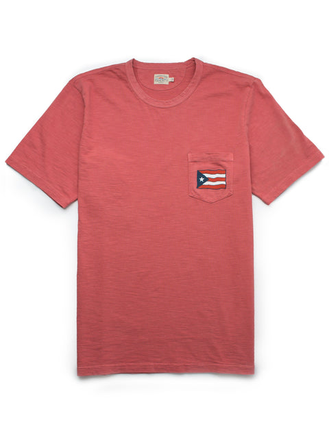 c51f18fe81 Mens Puerto Rico Pocket Tee - Faded Red – Faherty Brand