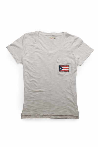 Women's Puerto Rico Pocket Tee - Cloudy