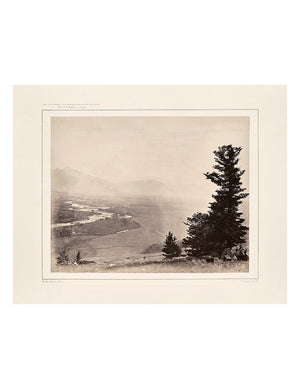 Muir Way - Panoramic View of Yellowstone Valley No. 3, Yellowstone 1873