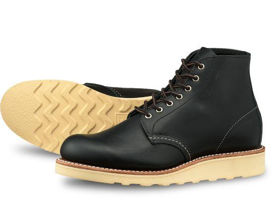 "Women's Red Wing 6"" Round Toe Boot - Black"