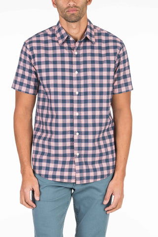 Short-Sleeve Seaview Shirt - Rose Buffalo Check