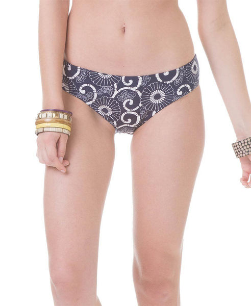 navy and white women's bikini bottom