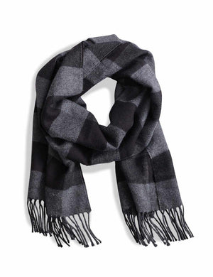 Alpaca Scarf - Charcoal Black Buffalo