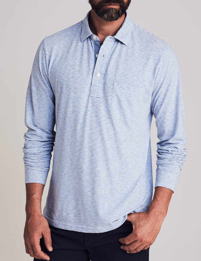 Long-Sleeve Polo - Madaket Stripe