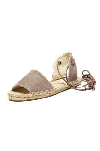 Soludos Suede Balearic Tie-Up Sandal - Dove Grey