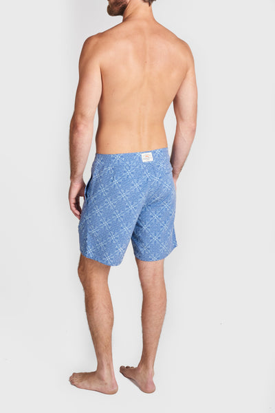 Classic Boardshort - Tribal Batik Blue