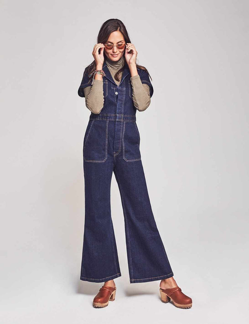 Aviation Jumpsuit - Indigo