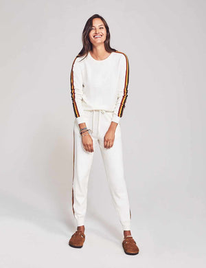 Sconset Jogger - Cream Vintage Stripe