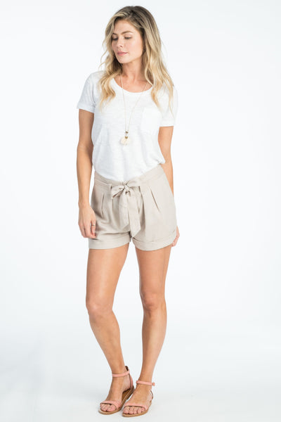 Sasha Pleated Short - Stone