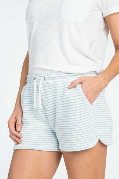 San-O Pull On Short - Pacific Blue Stripe