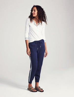 Arlie Vintage Side Stripe Jogger - Navy