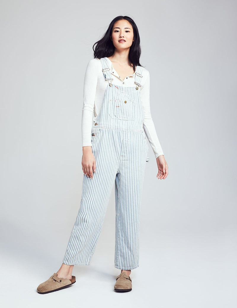 Super Washed Overall - Railroad Stripe