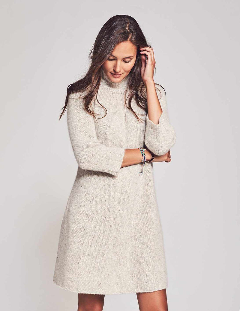 Alice Cashmere Sweater Dress - Swansdown