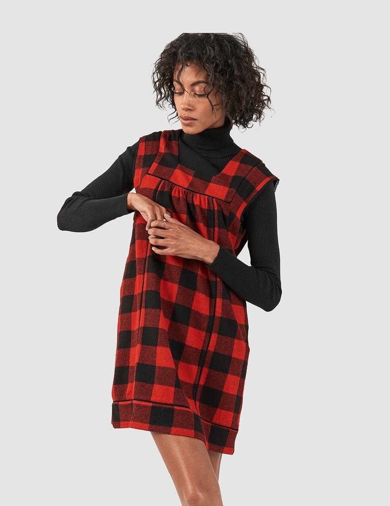 1ac47b62d1c Brenton Dress - Black Red Buffalo Check – Faherty Brand