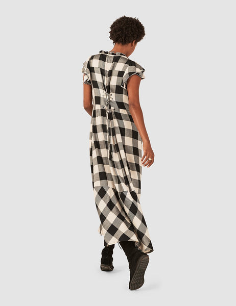 Nadia Dress - Ivory/Black Buffalo
