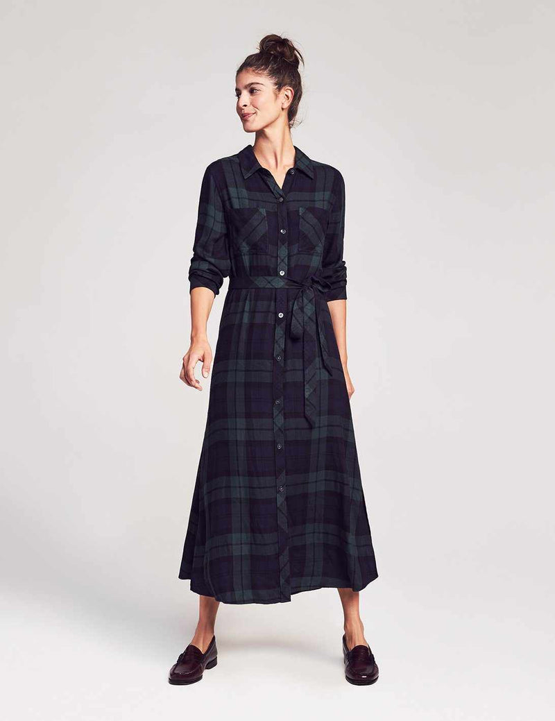 Dolly Dress - Black Watch Plaid