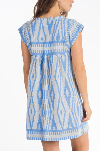 Juliette Dress - Pacific Aztec