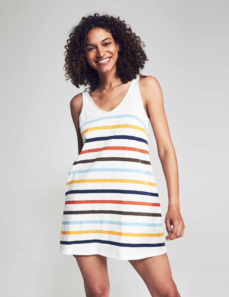 Florence Dress - Multi Toto Stripe