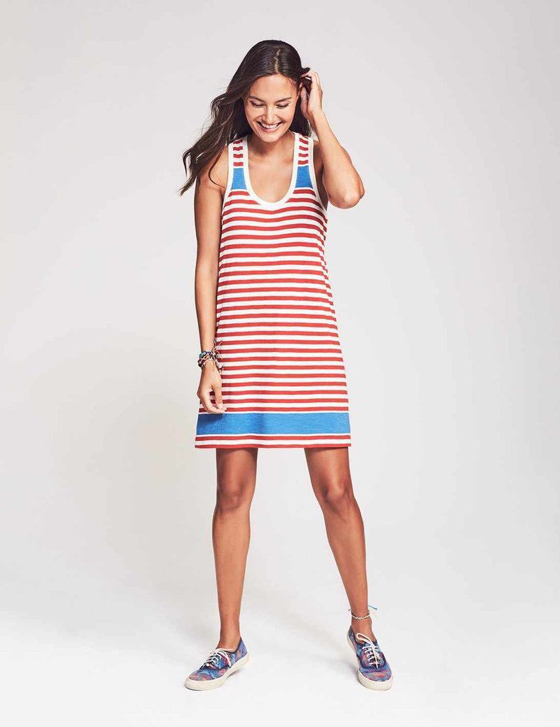 Leena Dress - Red Ida Stripe